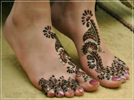 Leg Mehndi Designs Easy Only : Innovative easy mehndi design for legs domseksa