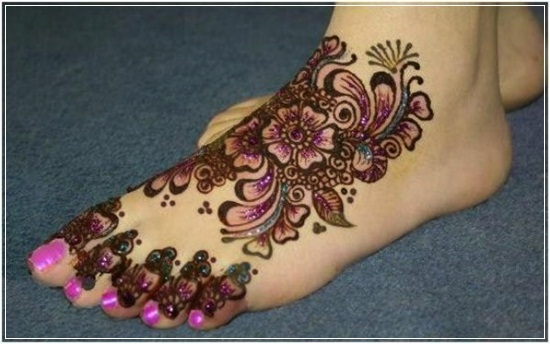 Mehandi Designs for feet and legs (7)