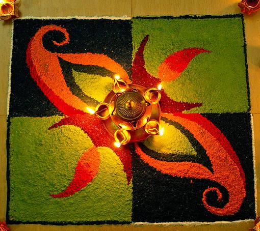 25 Easy Rangoli Designs - Cathy
