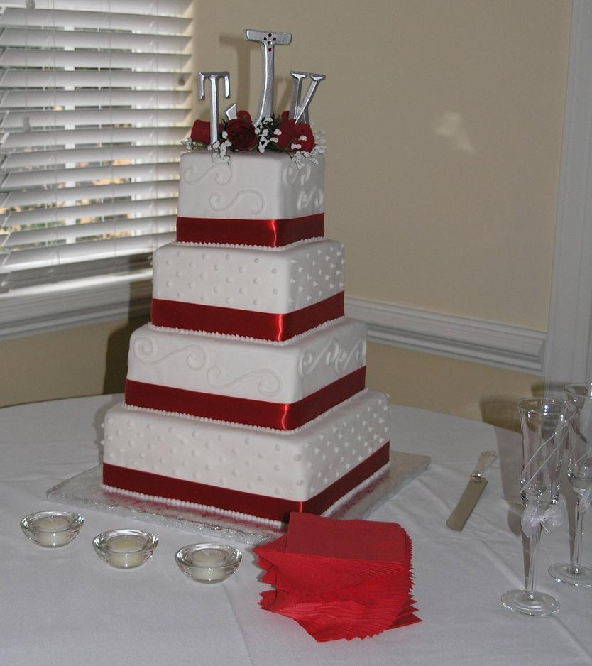 Cake Decorating Ideas Square : Wedding Cake Ideas - Cathy