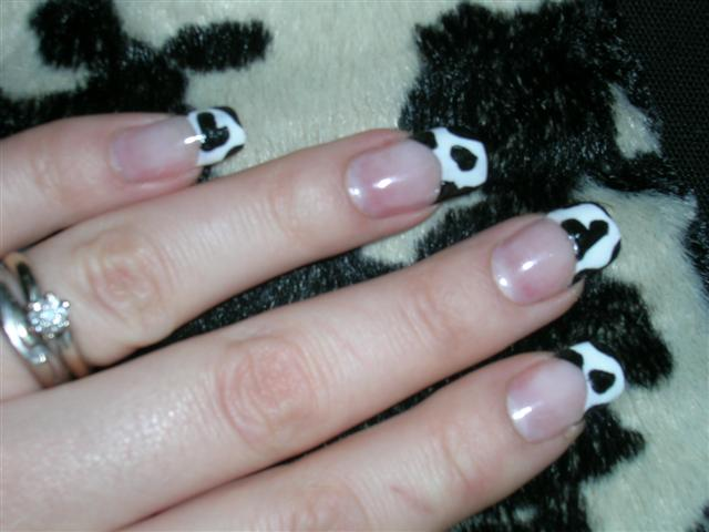 mad cow nail design