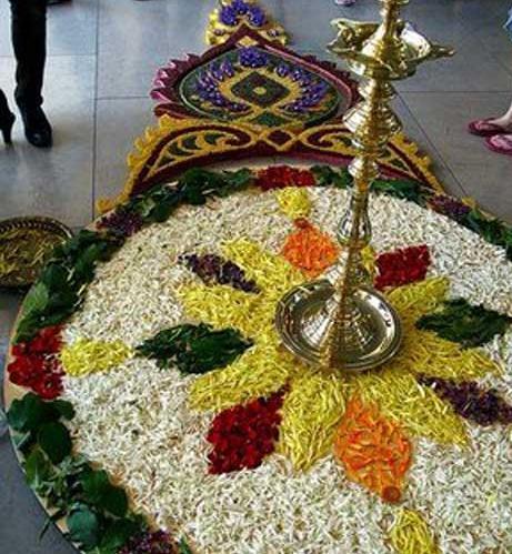 Rangoli With Flowers Cathy