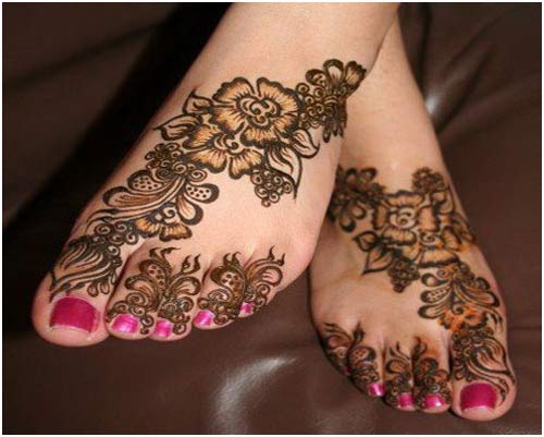 Leg Mehndi Designs Easy Only : Mehndi designs for feet cathy