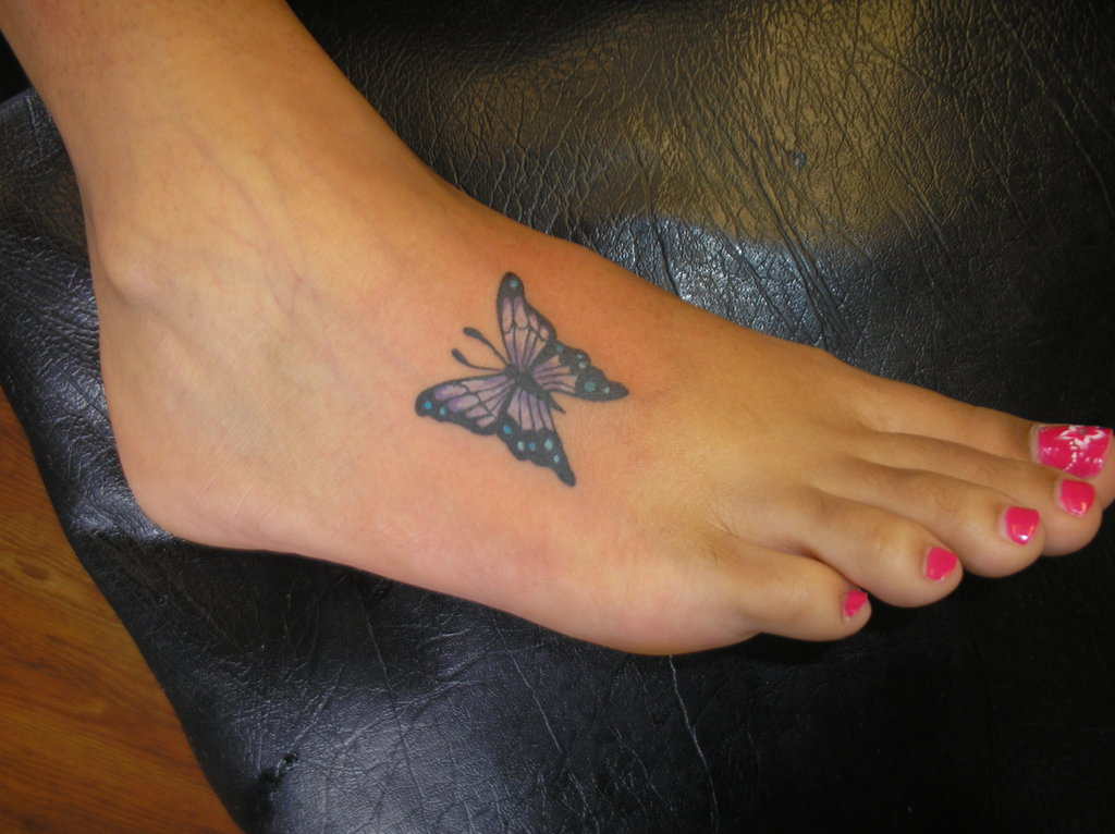 Butterfly-Foot-Tattoo