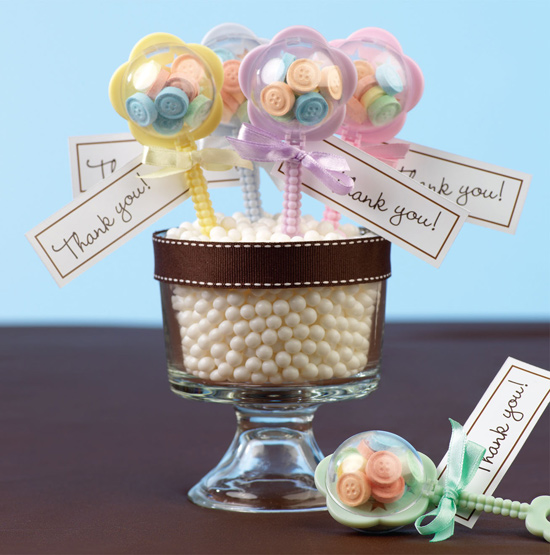 baby shower favor rattle