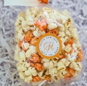 bridal shower favor popcorn