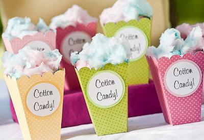bridal shower favors cotton candy