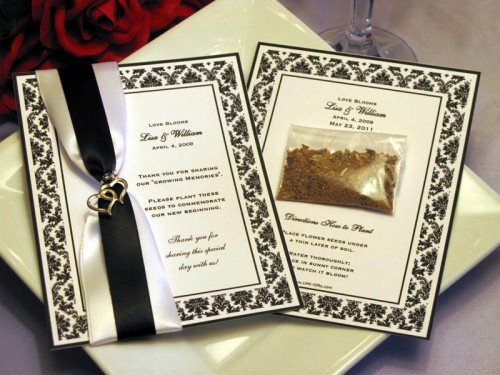 bridal shower favors seed packets