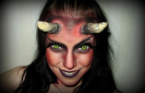 Stunning Devil Woman Makeup Halloween Contemporary - harrop.us ...