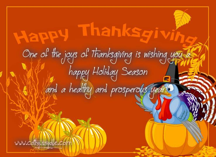 thanksgiving message ecards
