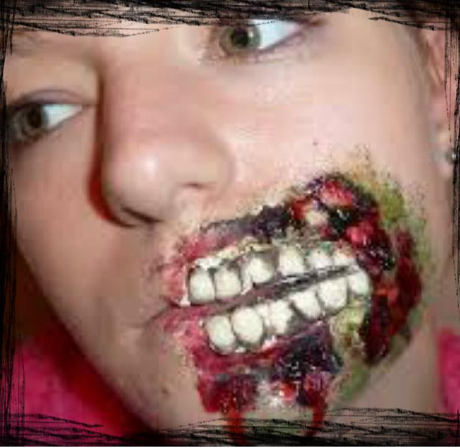 zombie halloween makeup - Cathy