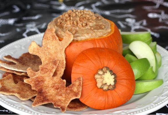 Caramel-Toffee-Dip-in-a-Pumpkin-