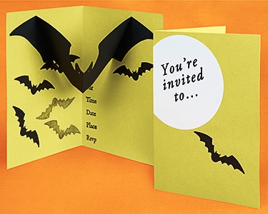 Pop-up-Halloween-birthday invitation
