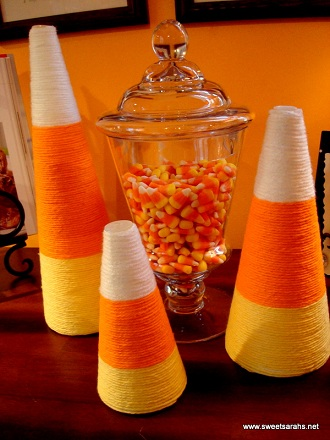 candy corn trees halloween decoration