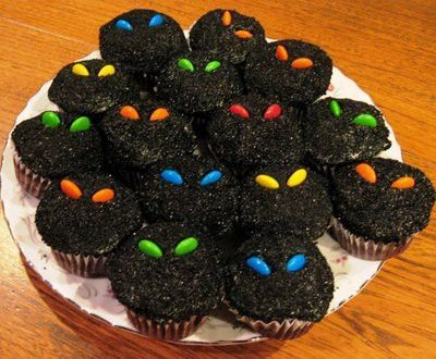 scary halloween cupcakes