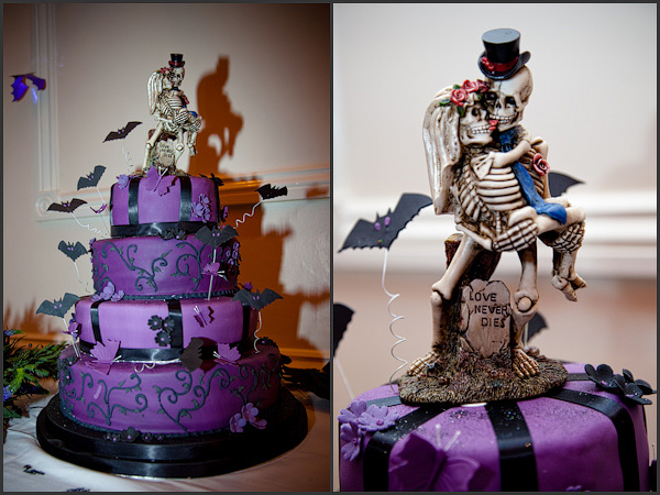 scary halloween-wedding-cake