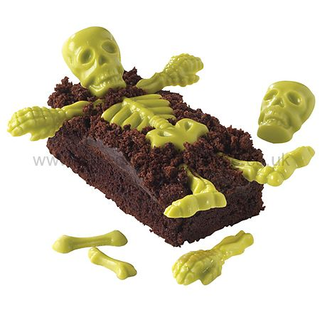 skeleton halloween cake decorating