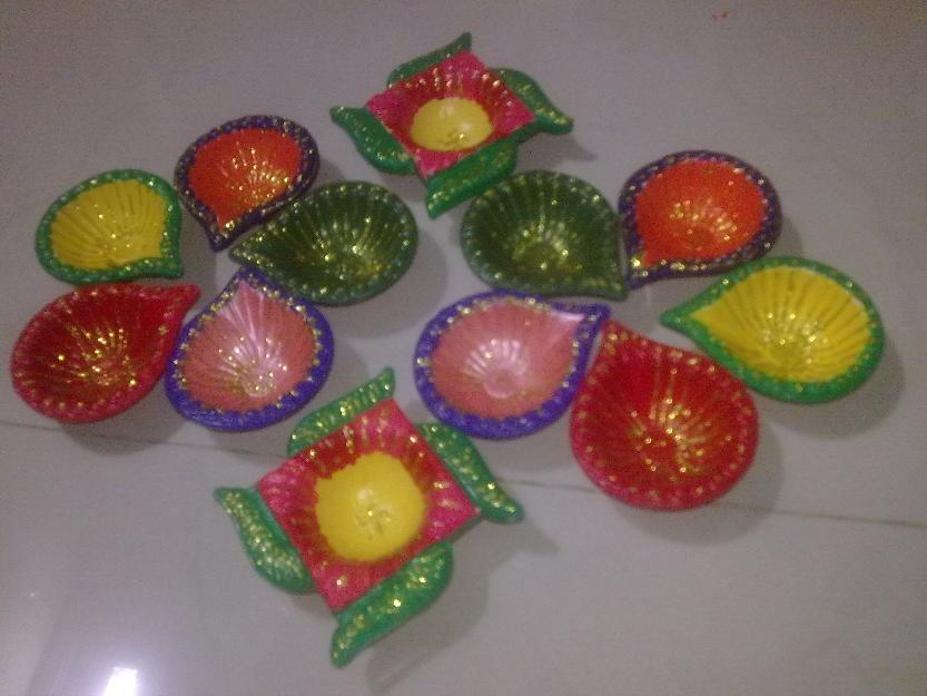 simple rangoli diya