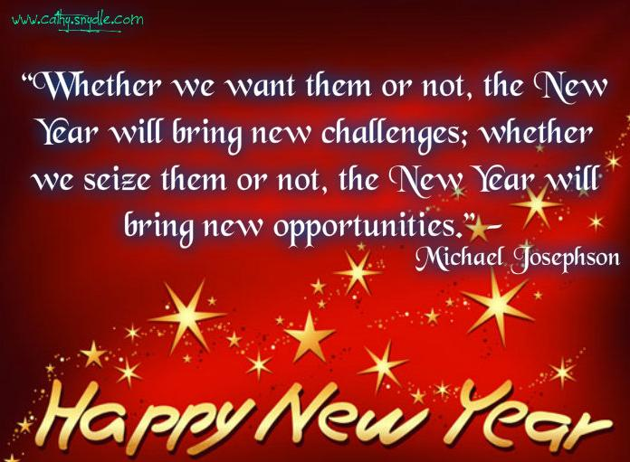 Quotes About Friendship And The New Year : Happy new year quotes and sayings cathy