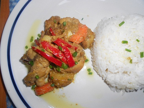 chicken curry with coconut milk_