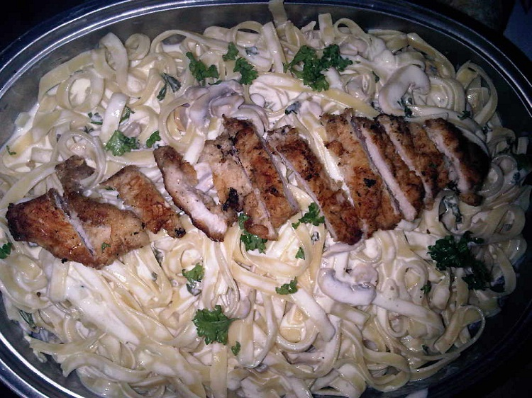 how to prepare chicken fettuccine alfredo