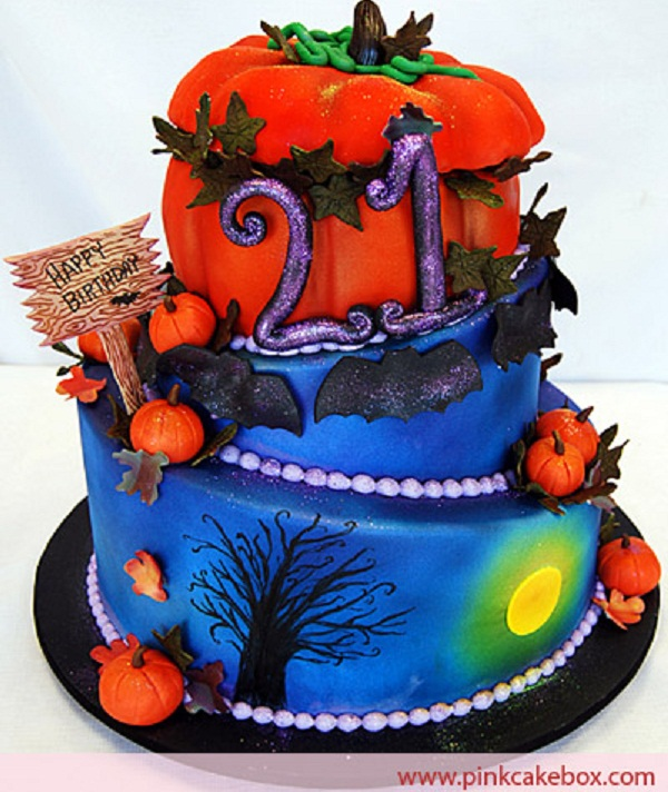 Admirable Halloween Birthday Cake Cathy Funny Birthday Cards Online Barepcheapnameinfo