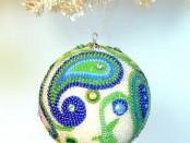 Handmade Beaded Christmas Ornaments.1
