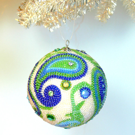 Handmade Beaded Christmas Ornaments.1