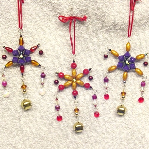 Handmade Beaded Christmas Ornaments.2