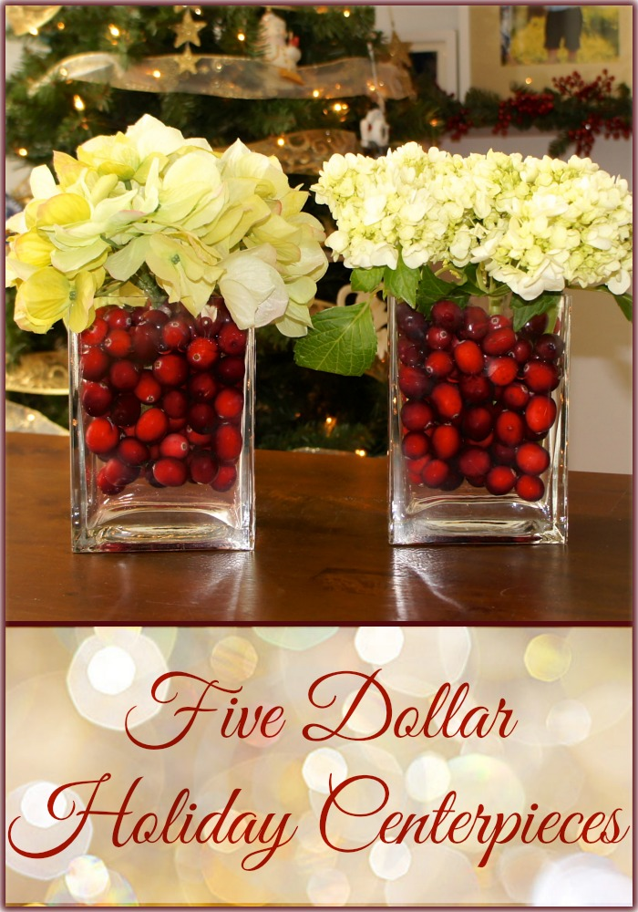 Easy christmas centerpiece decorations for Quick and inexpensive wedding decorations