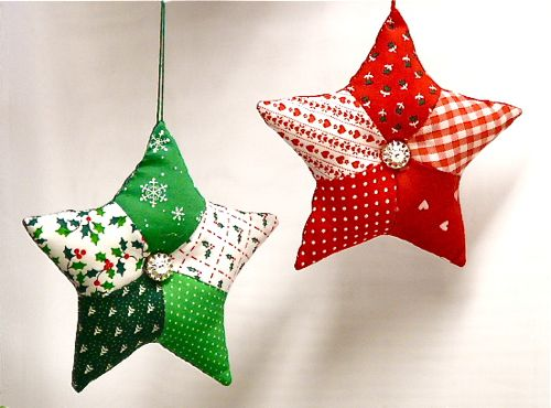 handmade fabric christmas ornaments2