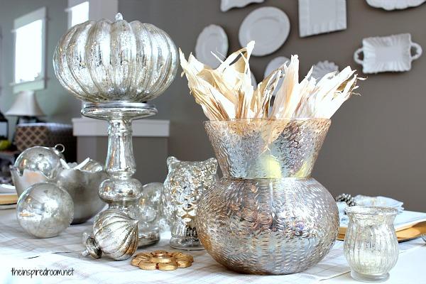 Silver Christmas Table Centerpiece Ideas Cathy