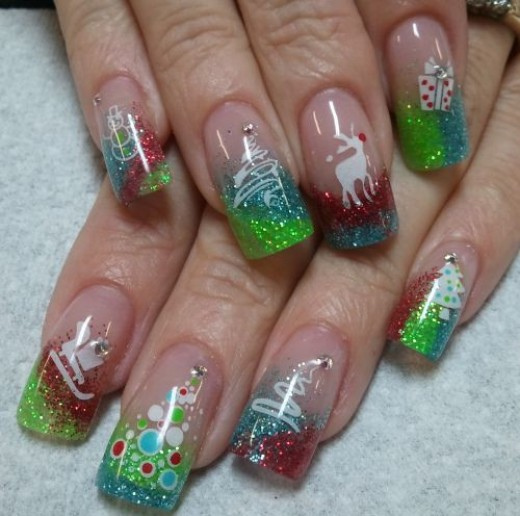 1nail art designs christmas