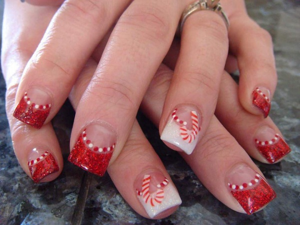 Acrylic Nail Christmas Designs
