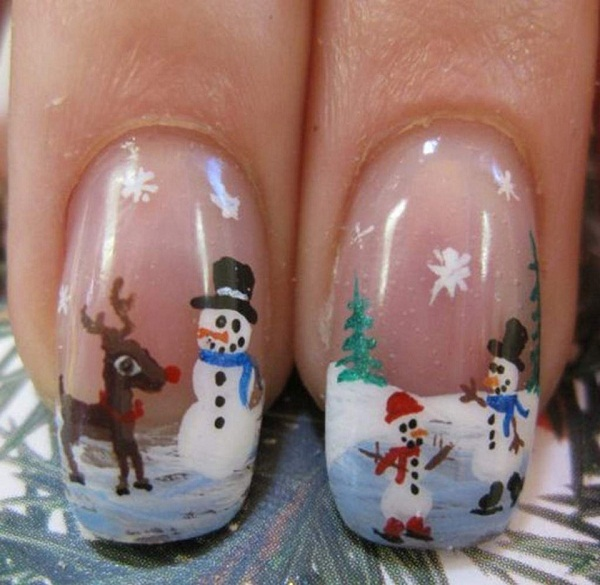Acrylic Nail Designs for Christmas