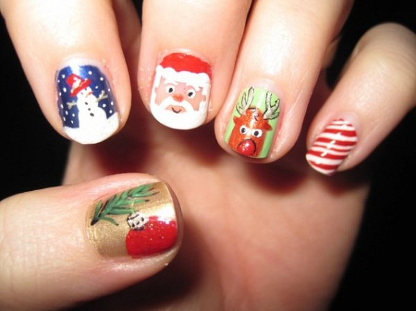 christmas nail art designs pictures