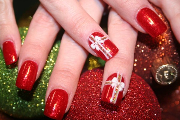 christmas nail art designs3 - 30 Christmas Nail Designs - Cathy