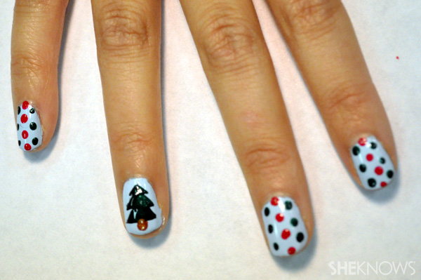 simple christmas nail designs2