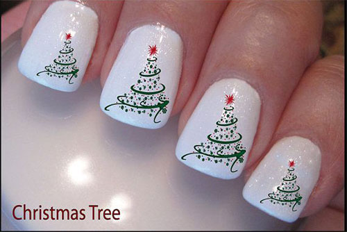 simple christmas nail designs4