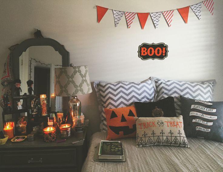 Girls Bedroom Idea. This Halloween Themed Bedroom Decoration ...