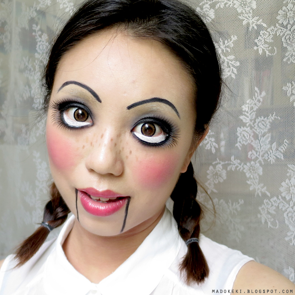 Creepy Doll Makeup Tutorial for Halloween