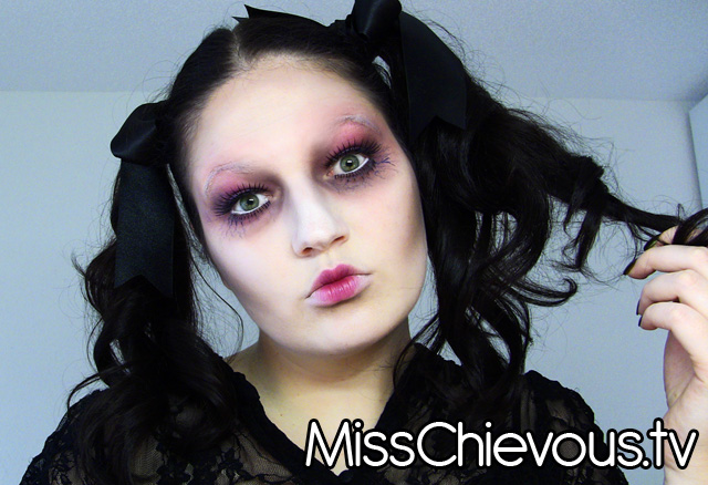 Easy Creepy Doll Halloween Makeup Tutorials Cathy
