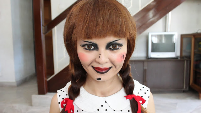 Annabelle Doll Makeup Tutorial